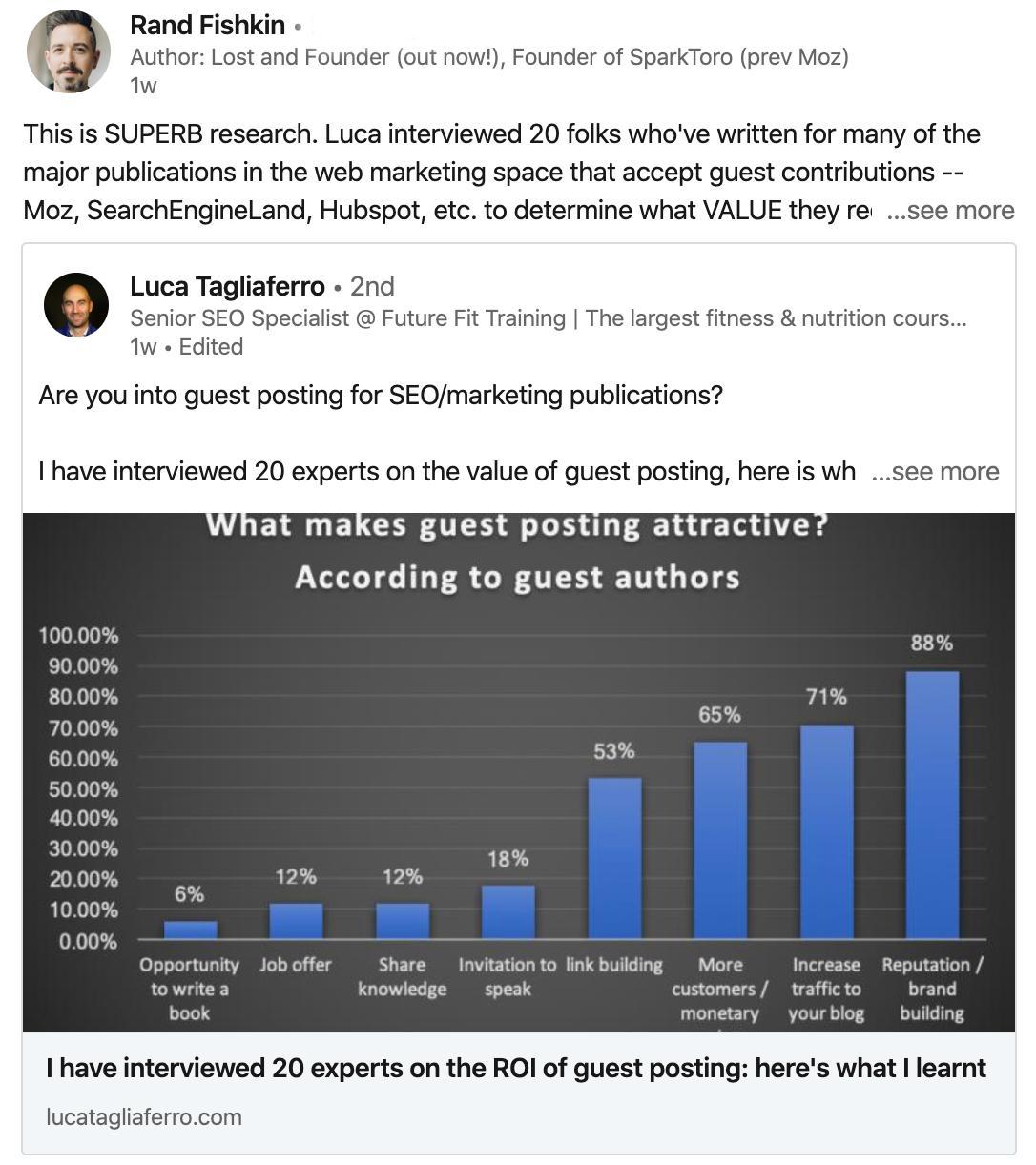 post example for LinkedIn business development