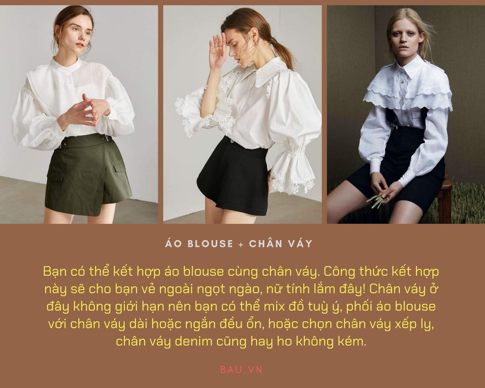 Những tips kết hợp áo blouse cho các cô nàng năng động - ảnh 5