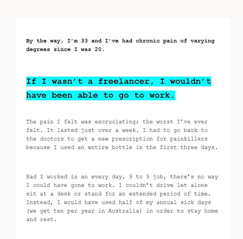Tara Fitness Email Screenshot