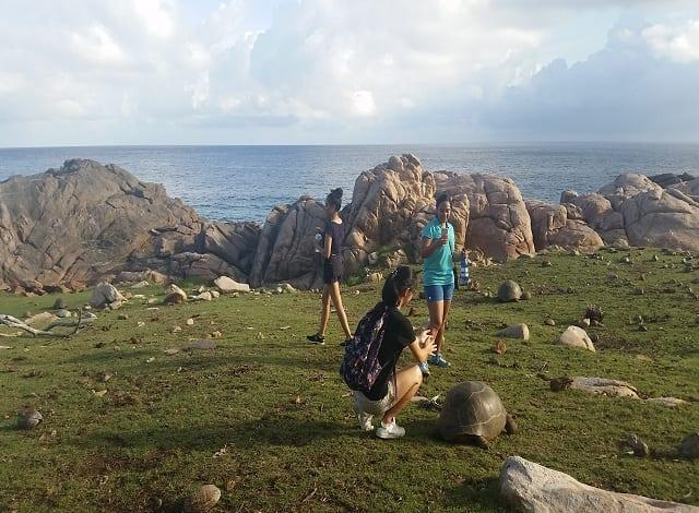 Tourists in Seychelles