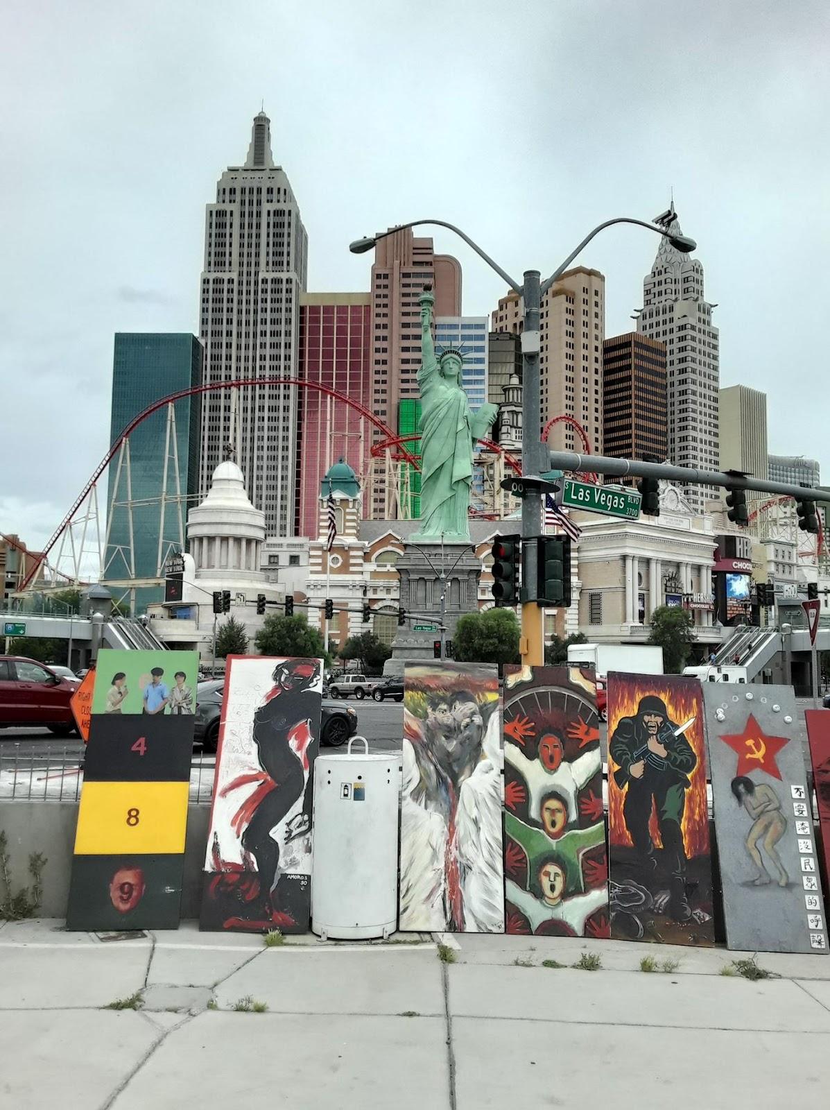 六四巡回画展经拉斯维加斯到达自由雕塑公园胜利结束