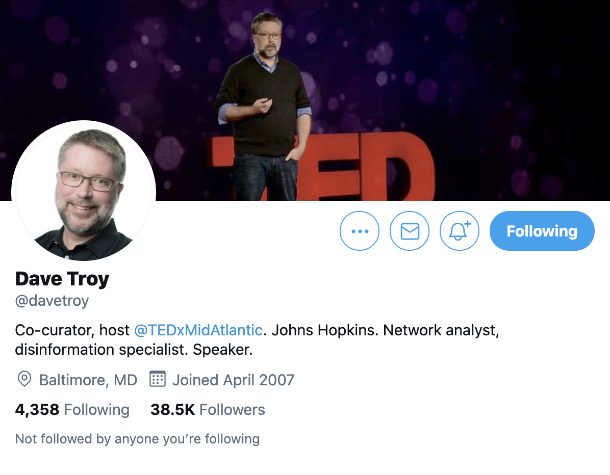 Dave Troy - Twitter Profile