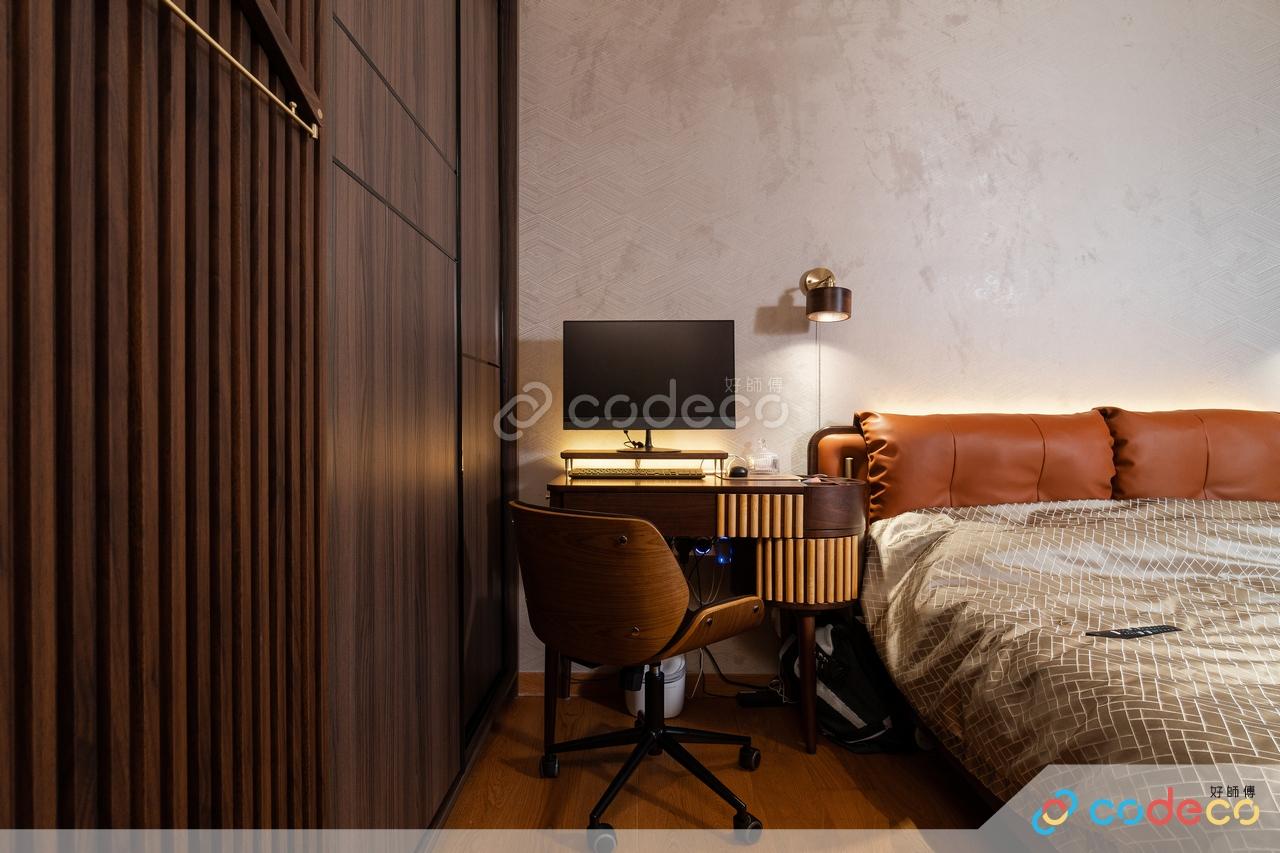輕奢風金屬雲石紋主人房睡房設計