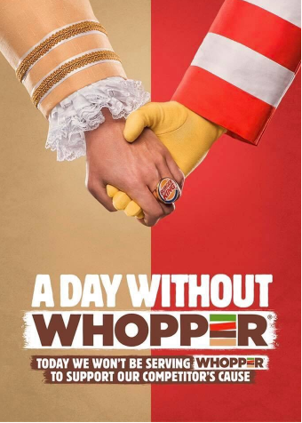 No whopper day poster by Burger king.