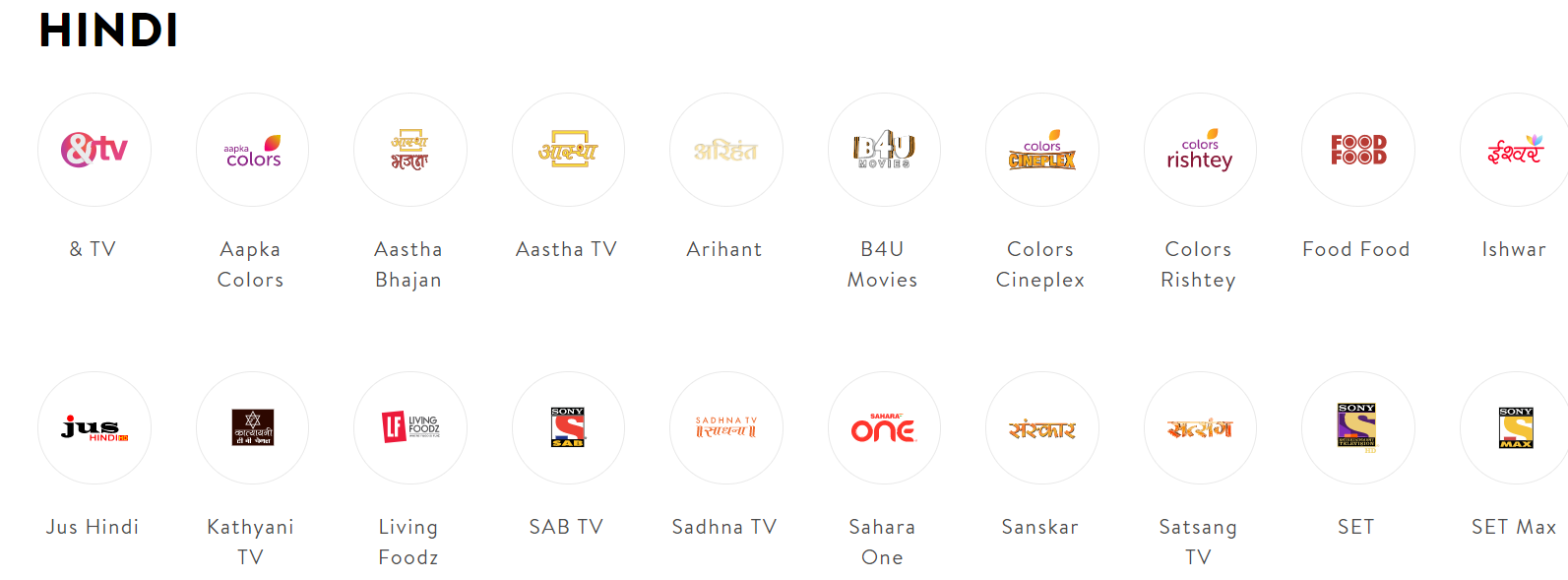 Sling TV Hindi International Channels