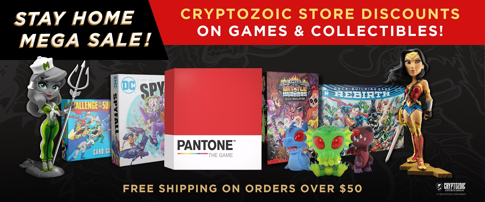 Stay Home Mega Sale: Cryptozoic Games & Collectibles