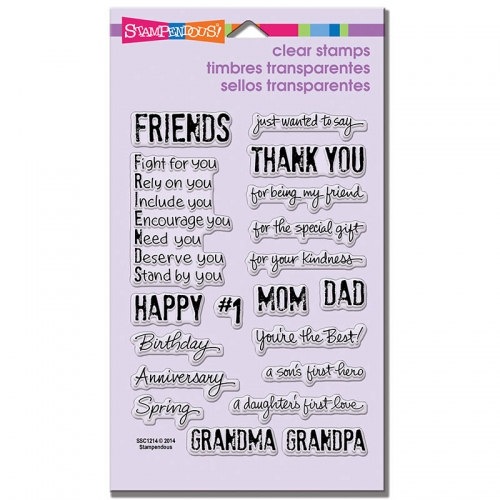 Happy Greetings Perfectly Clear Stamps Set