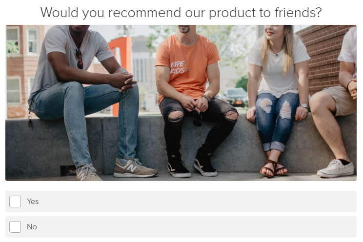 Would you recommend our product survey question