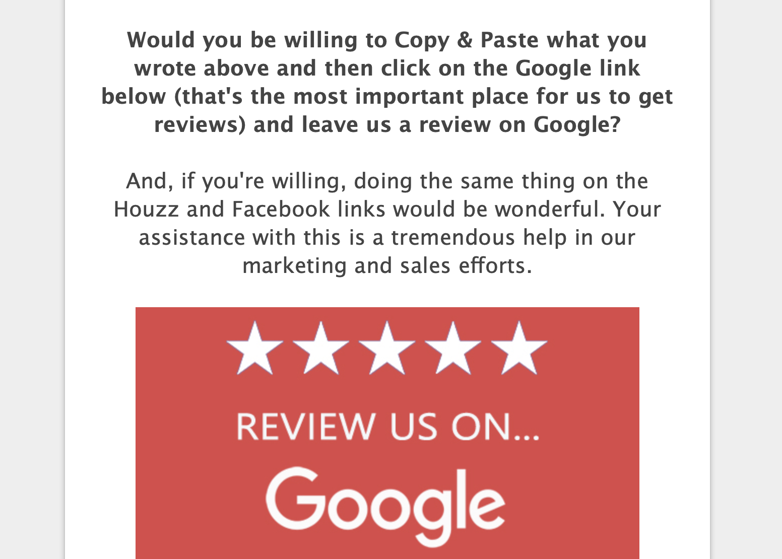 Survey Produces Google Reviews - Remodel Your Marketing