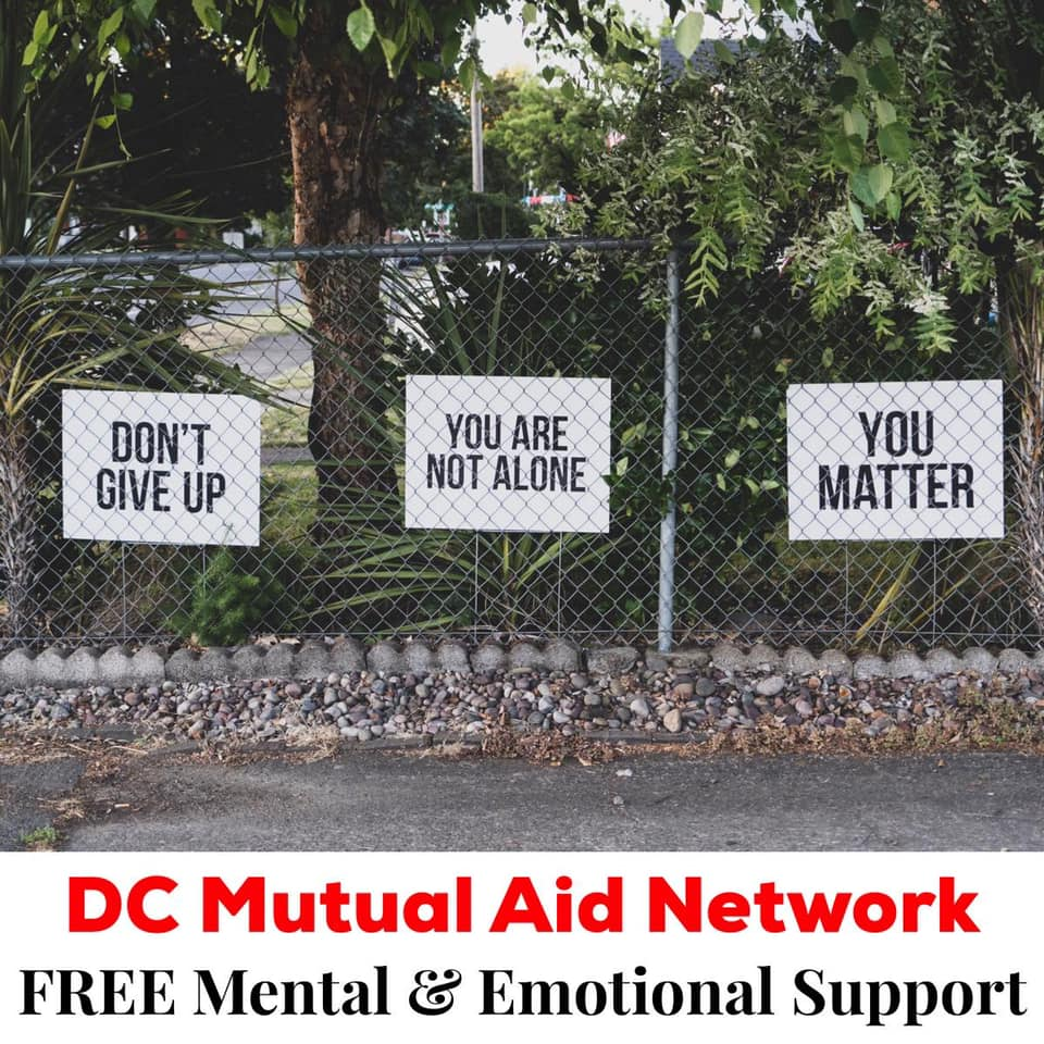 DC mutual aid network: Free mental & emotional support