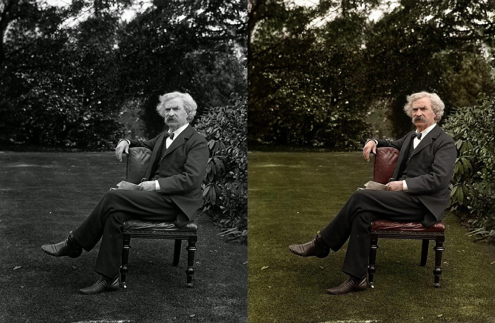 Mark Twain garden pic
