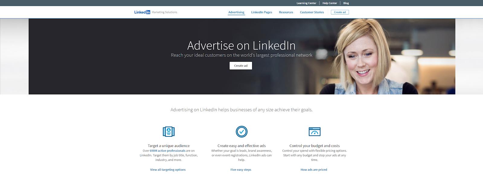 Annoncez sur LinkedIn