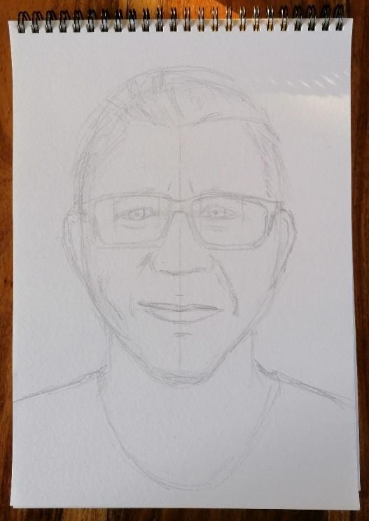 The rough sketch ready to add detail
