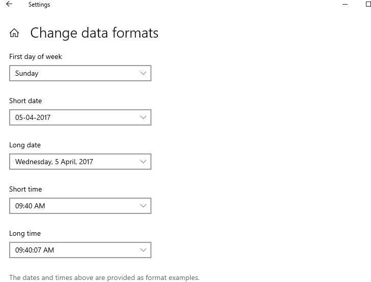 change data formats
