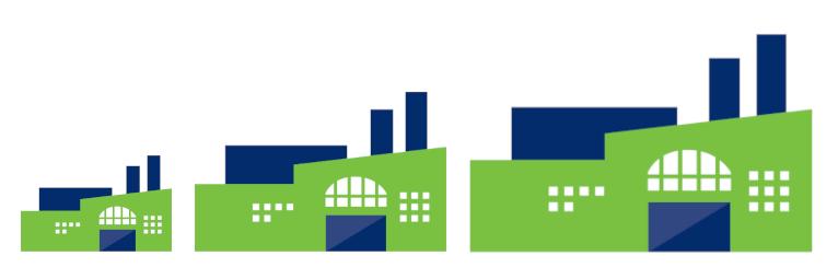Icon von mehreren Fabriken
