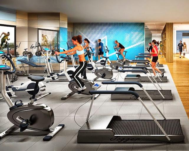 Phòng Gym ở căn hộ Samland Giai Việt