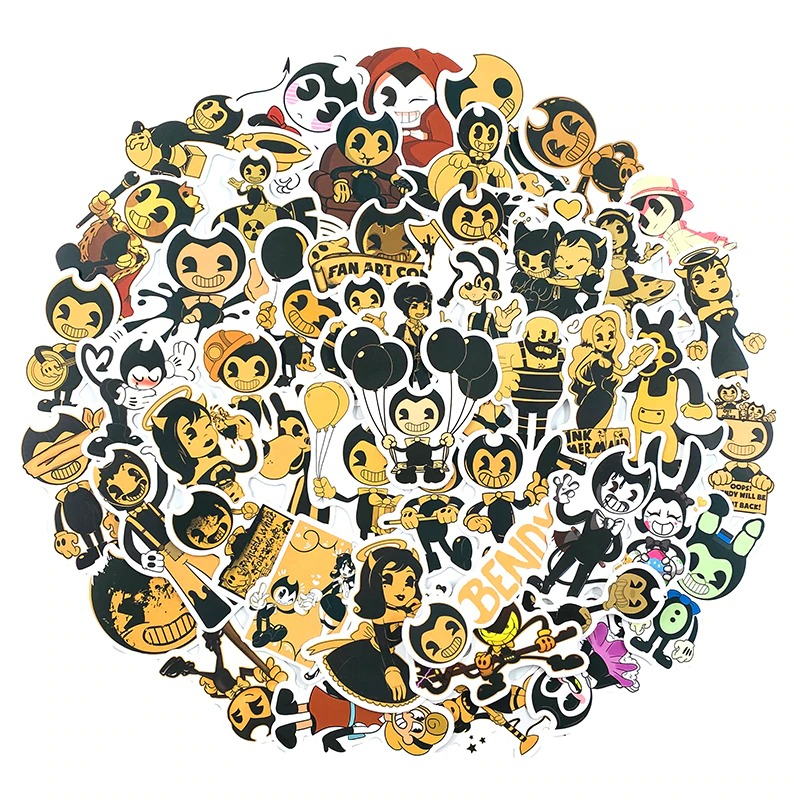 50 Bendy and the ink machine Stickers Stickers