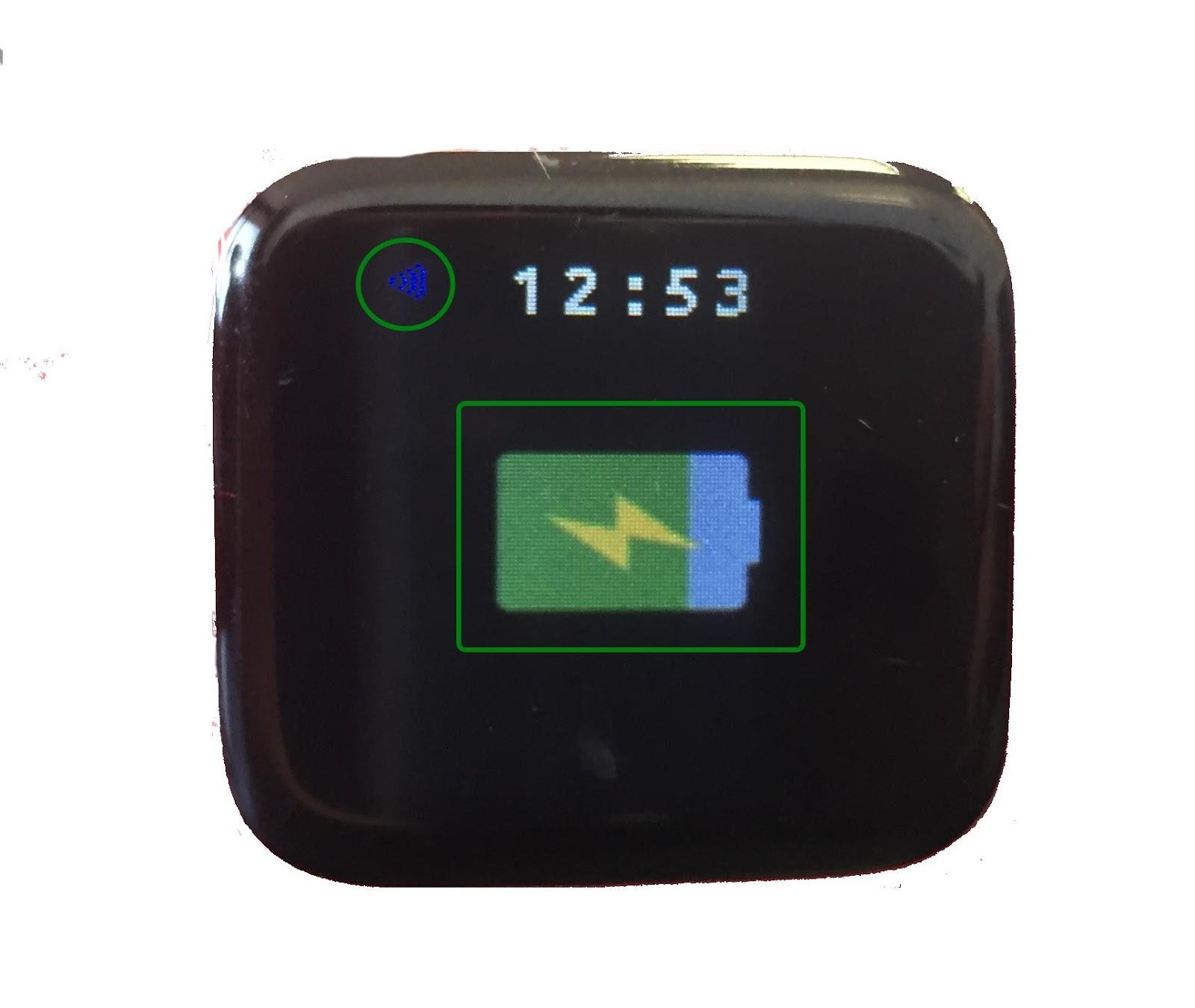 Octopus Watch: battery charging