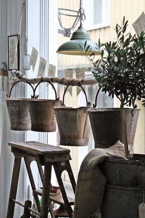 DIY Retail Display Ideas stick and bucket