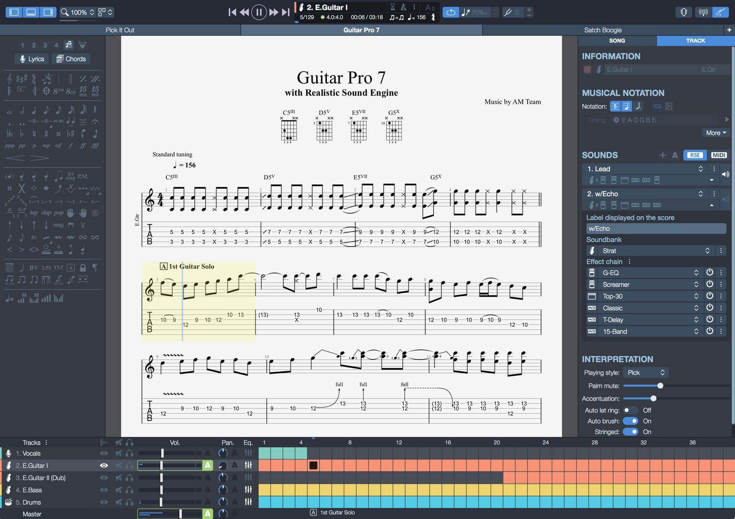 Guitar Pro - Sheet music editor software for guitar, bass ...