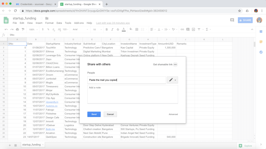 Share with others - Transfer Data for Free from Google Sheets to your target destination