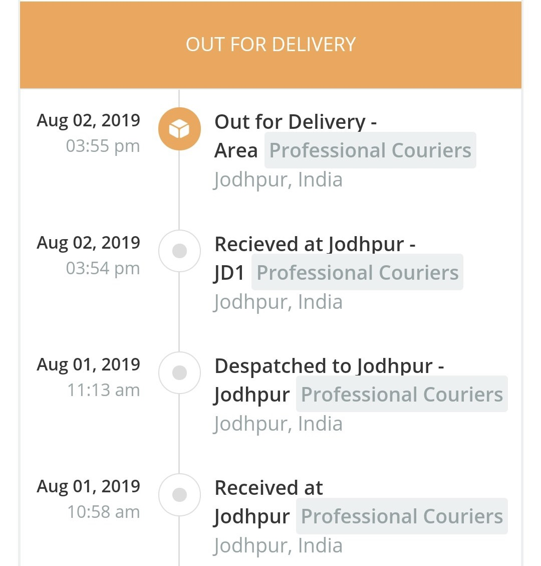 AfterShip Tracking a Package via Professional Couriers