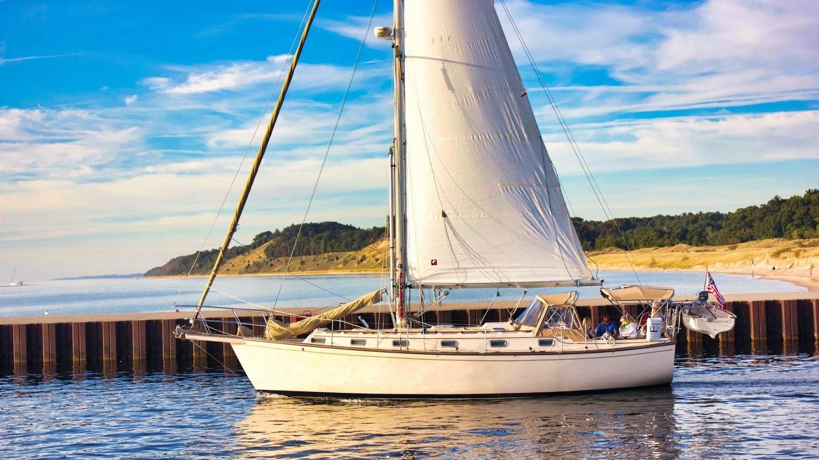 как устроена парусная яхта? Что такое гик?