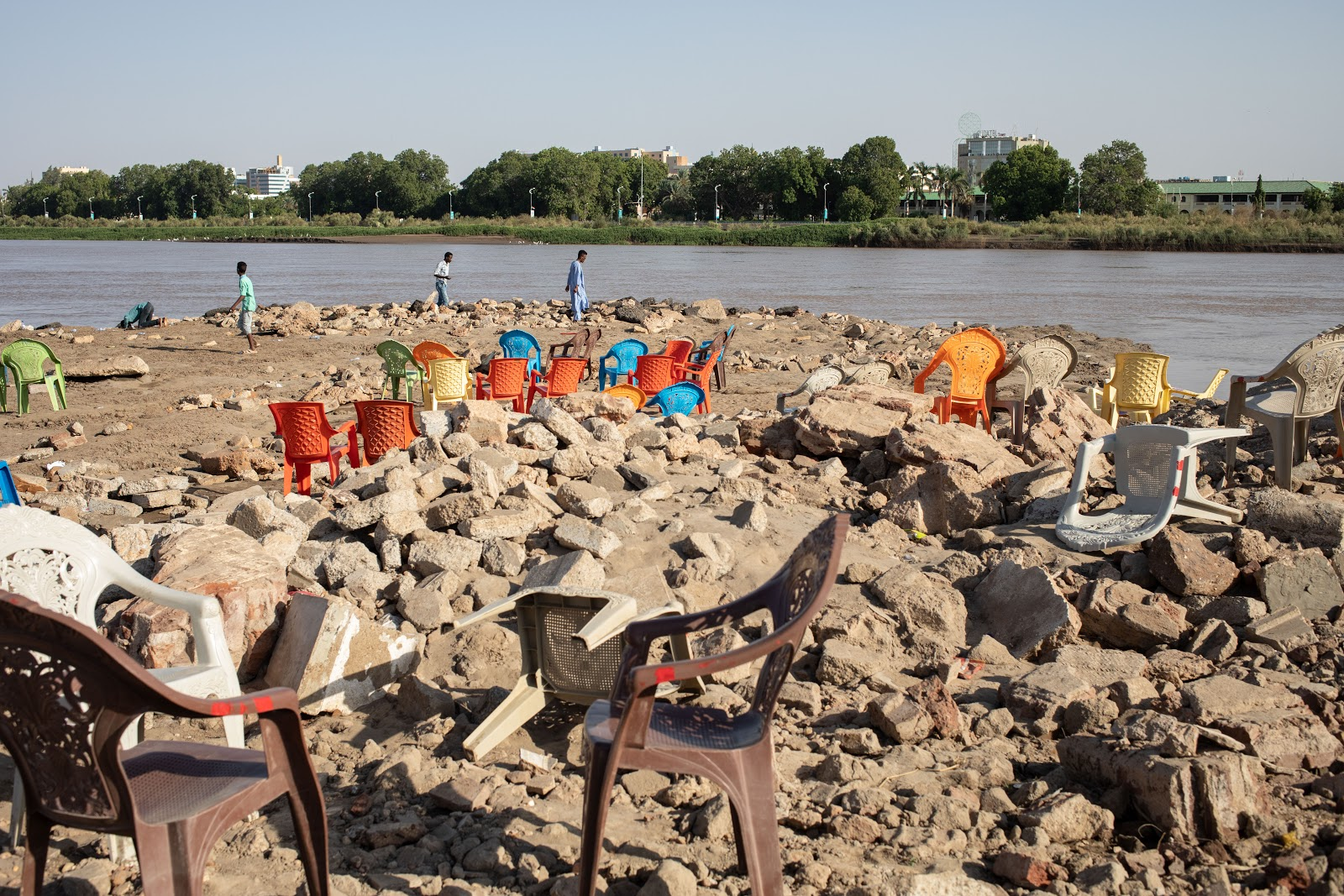 Tutti Island after the floods in Khartoum