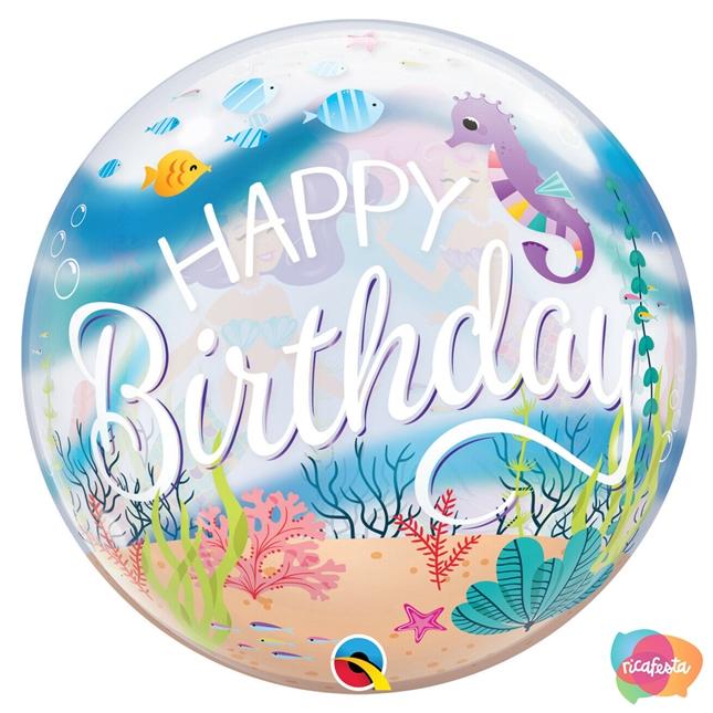 balão  festa sereia - Dani Folloni - Blog Rica Festa