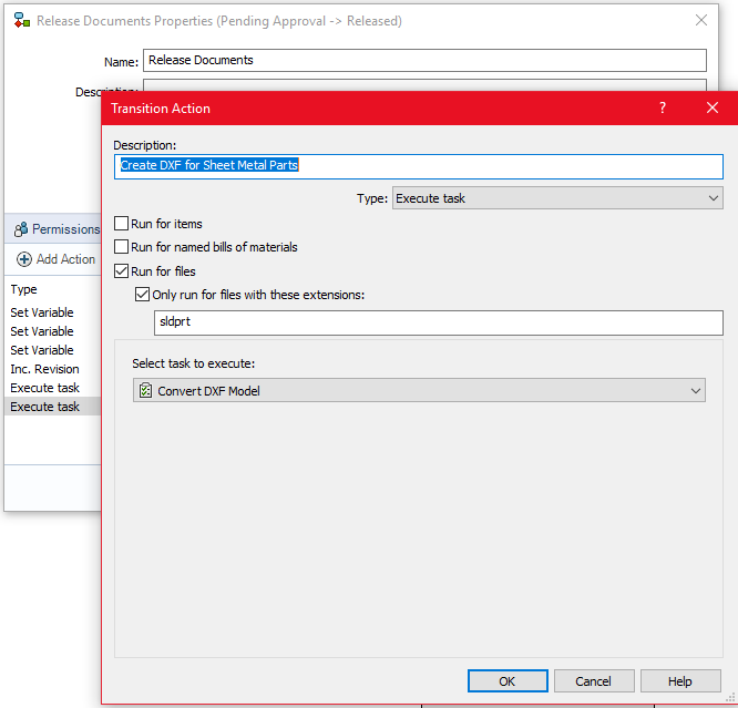 DXF/DWG Task Functionality in SOLIDWORKS PDM 2019
