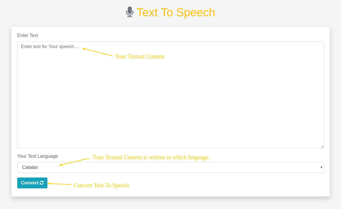 Laravel text to speech converter play and download file as MP3