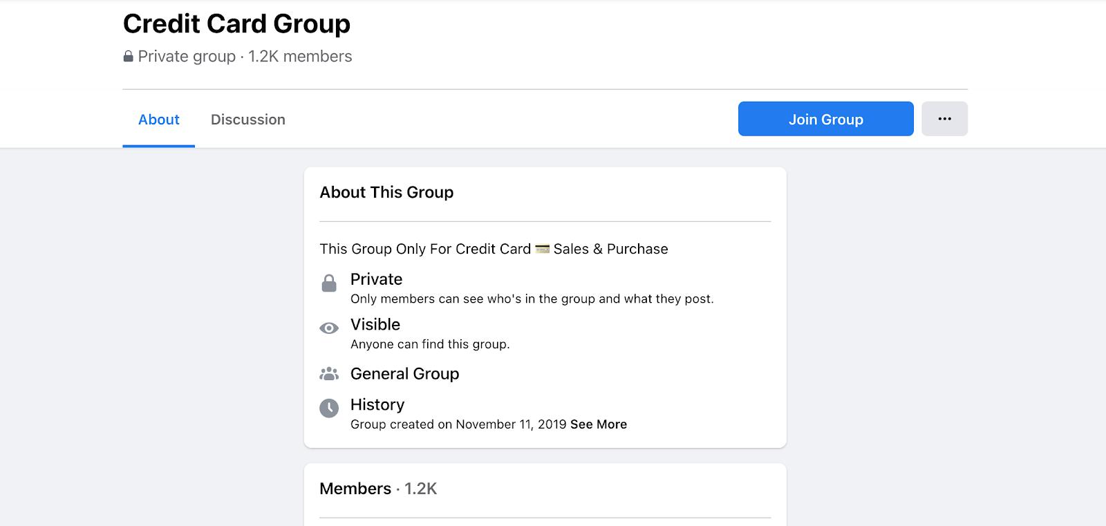 Credit Card Facebook Group