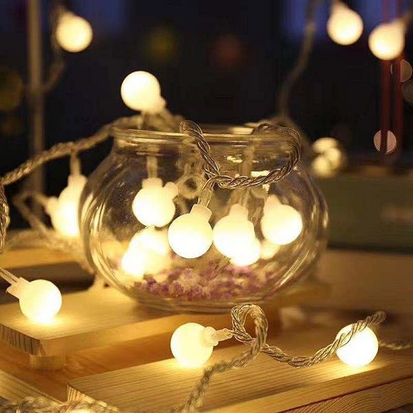 聖誕花圈diy-led燈串花圈