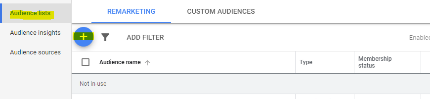 Google customer audience lists