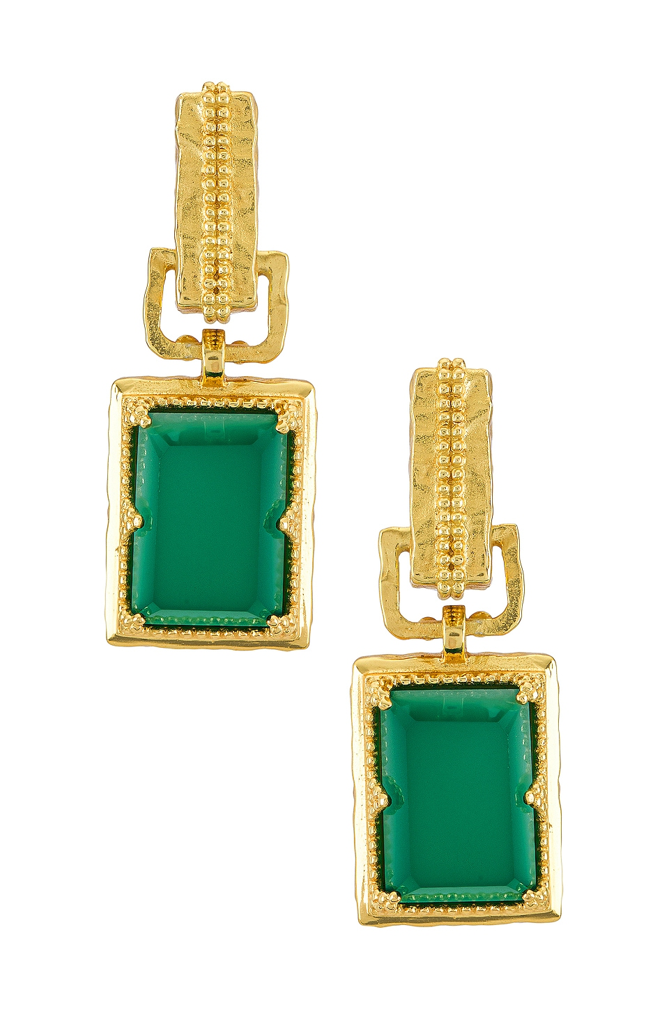 A sophisticated gold plated earrings.