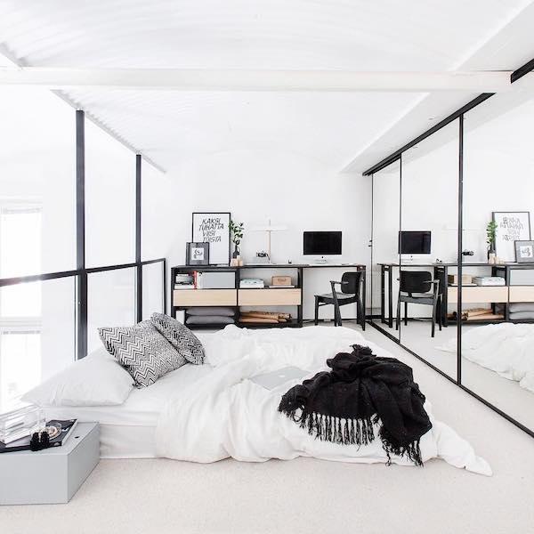 Black and White Scandinavian Bedroom Ideas