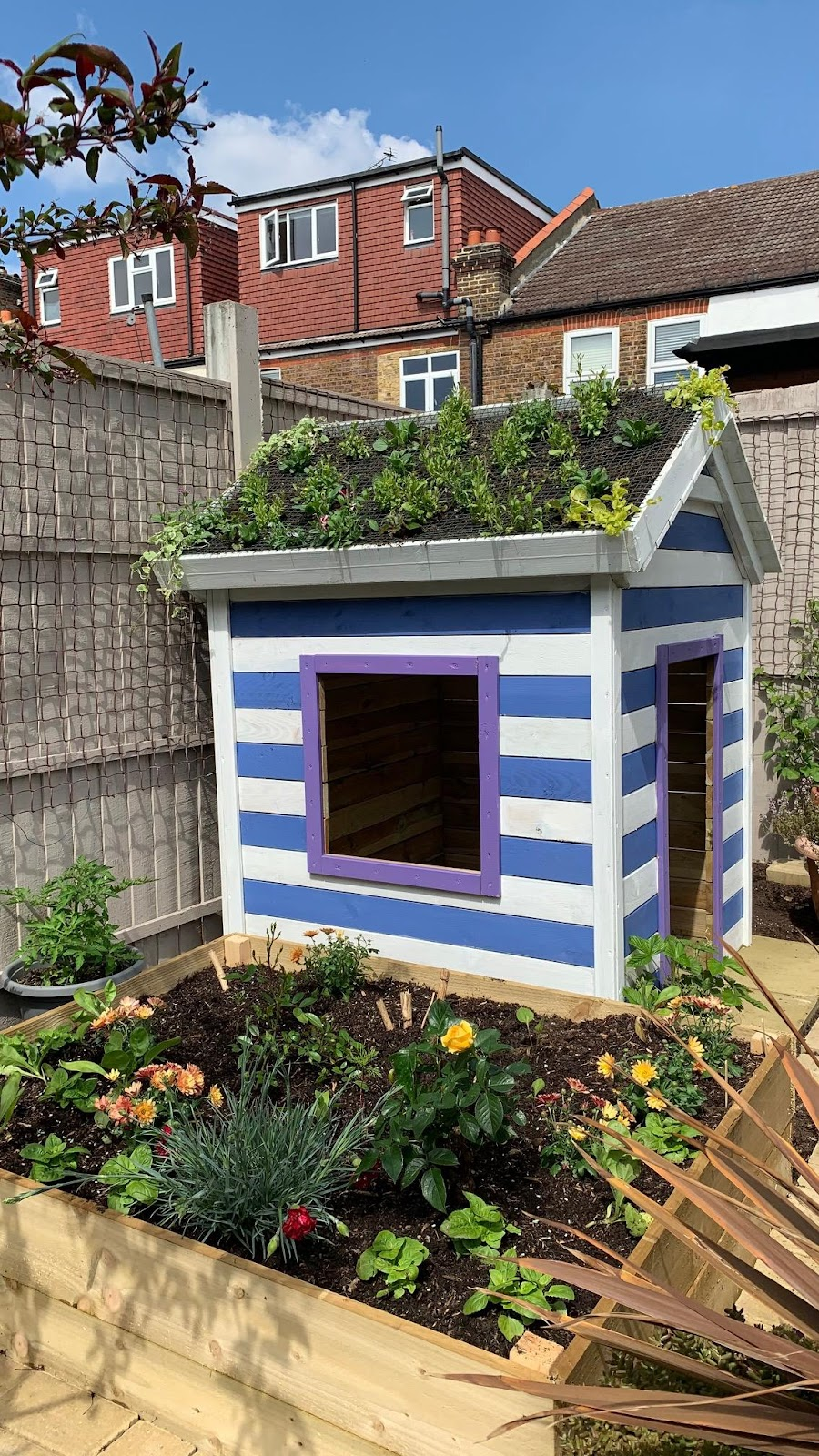 Personalise your DIY playhouse with a touch of paint