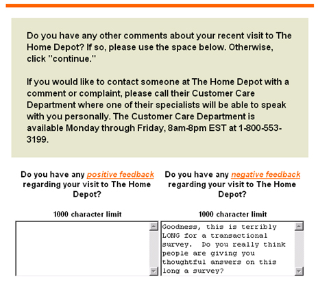 Home-Depot-Customer-satisfaction-survey