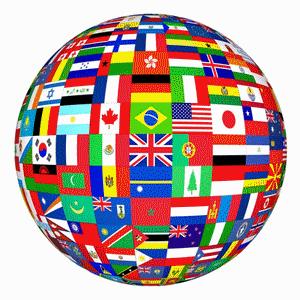 Illustration Cultural International Flag Globe