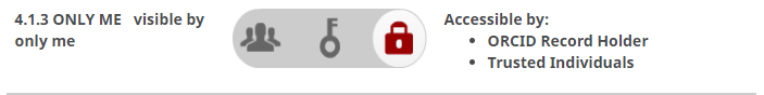 Image depicting the visible by only me setting, represented by a red lock