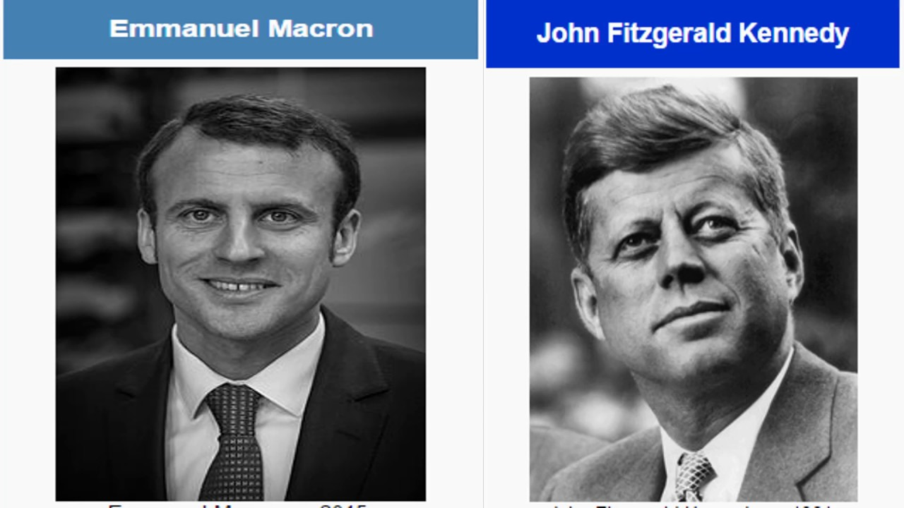 Billedresultat for macron and kennedy
