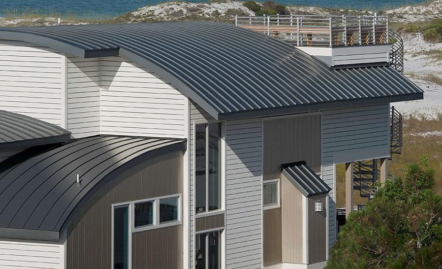 Kiến trúc ấn tượng cùng tôn lợp mái vòm