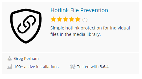 Disable Image Hotlink in WordPress Plugin