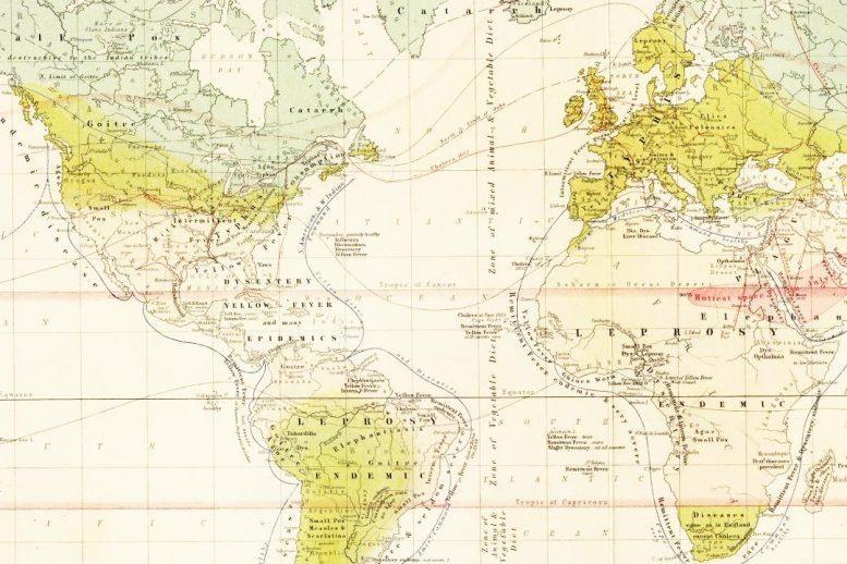 1856 Disease Map