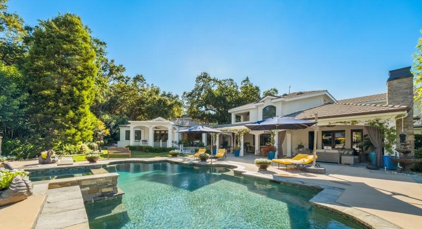 residential pool in Calabasas, CA