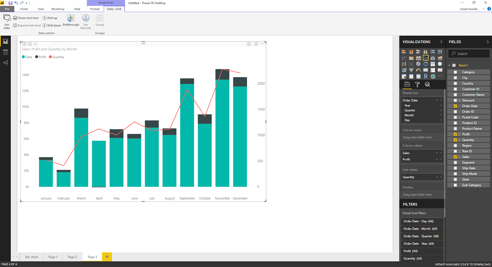 Dual Axis Chart in Microsoft Power BI - Step By Step 51