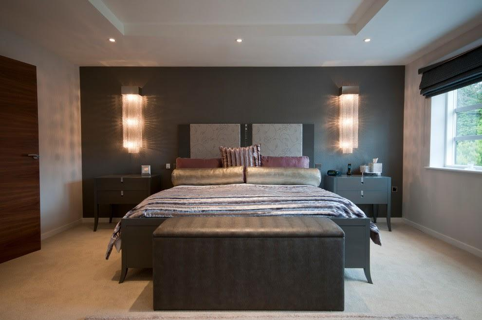 Lighting Your Master Bedroom Wall With Pairs of Lights