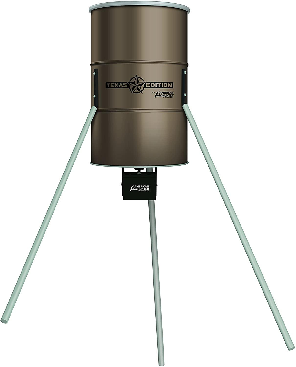 American hunter deer feeders are hunter's favorite due to big capacity and extreme durability. Find top brand deer feeder reviews here.