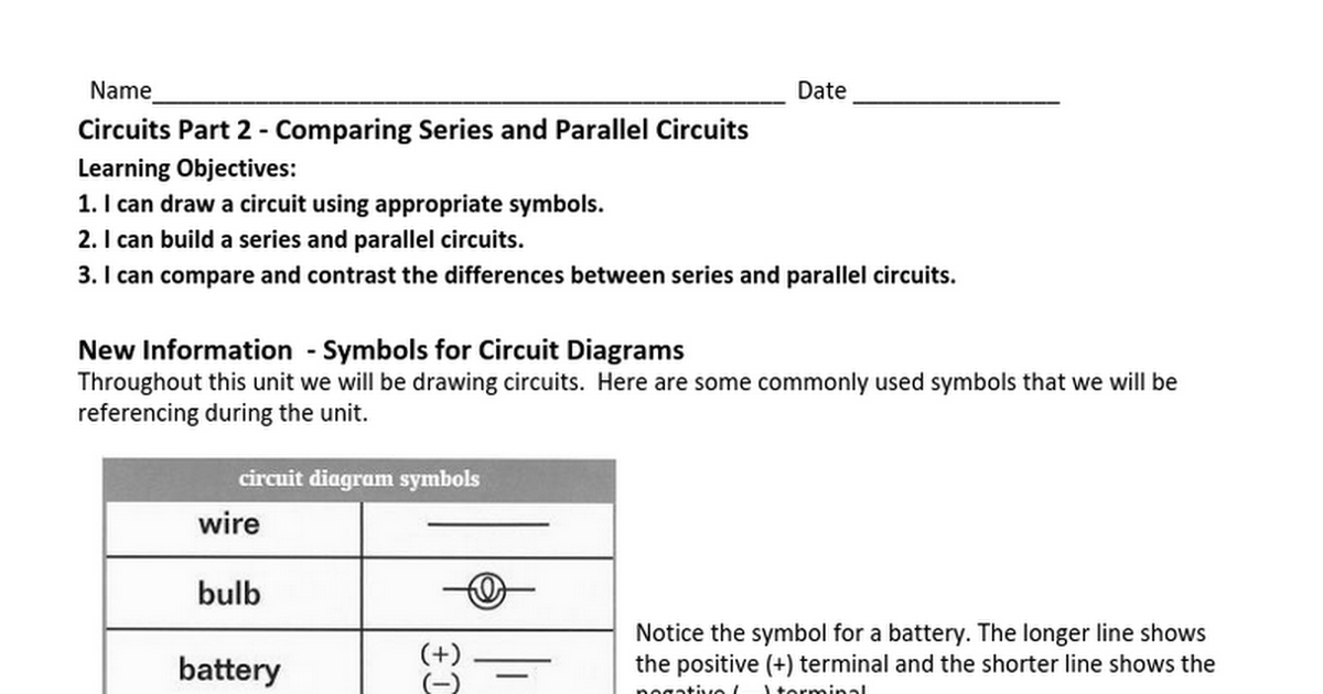 Unusual Symbol For A Battery In A Circuit Images - Electrical and ...