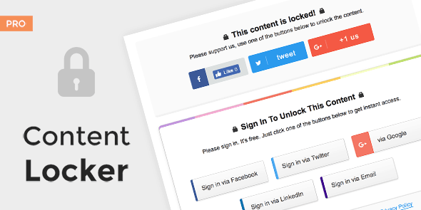 Content Locker Pro WordPress plugin